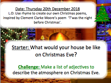 Christmas Eve Poem.Christmas Eve Poetry Lesson Using The Night Before Christmas Poem