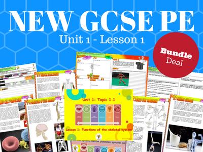 NEW Edexcel GCSE PE Unit 1 - Topic 1 - Functions of the Skeletal System – BUNDLE