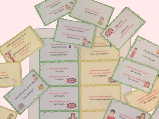 Free English French Flashcards to study or revise vocabulary and grammar