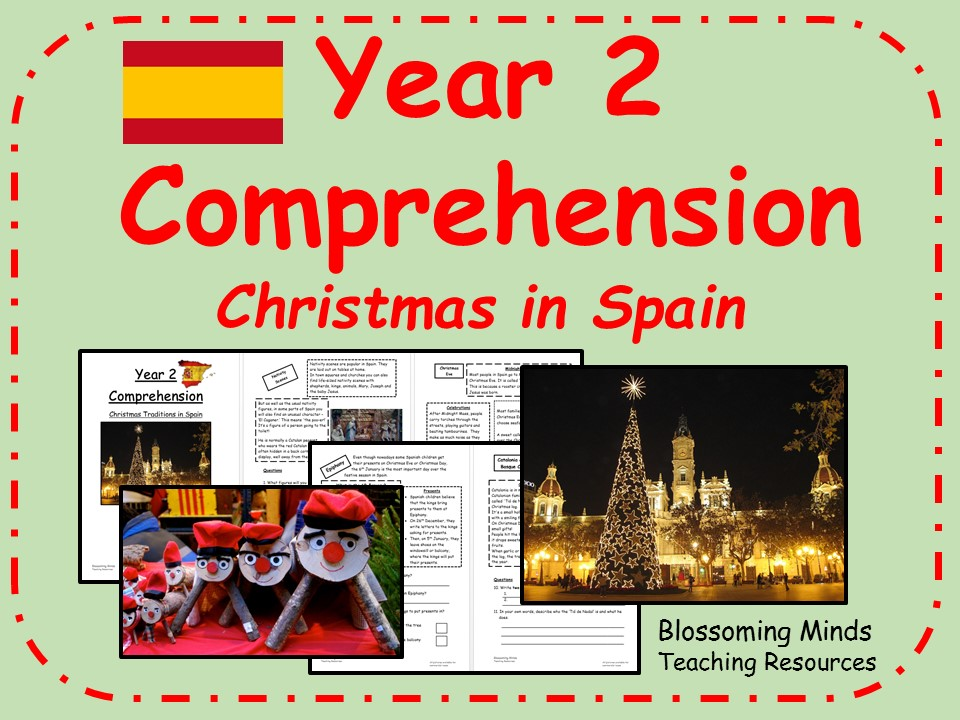 Year 2 non-fiction comprehension - Christmas in Spain