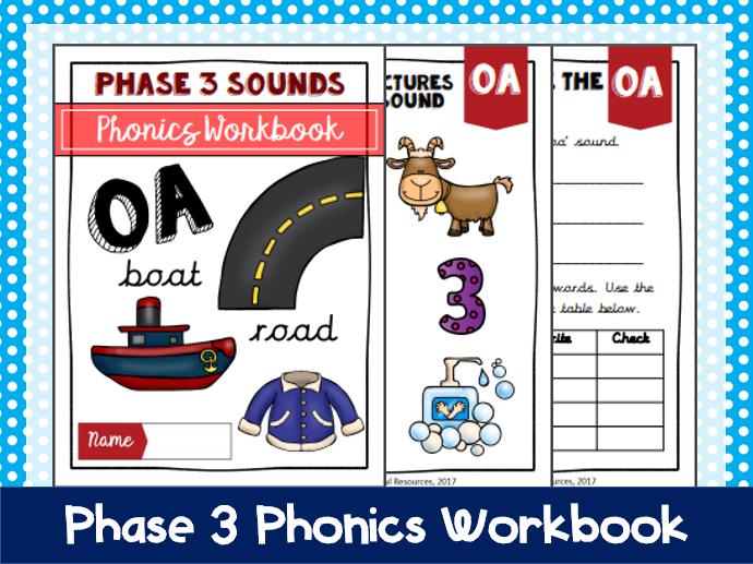 'oa' Phonics Workbook