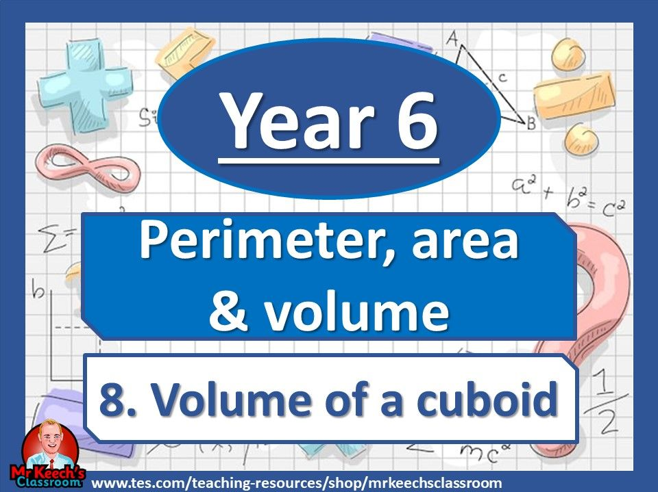 Year 6 - Perimeter, Area and Volume – Volume of a cuboid - White Rose Maths
