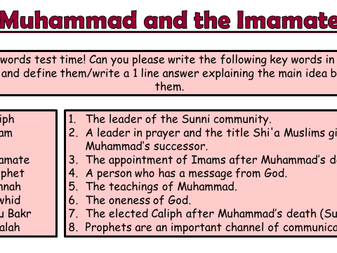AQA A Islam Beliefs and Teachings Lesson 10 - Holy books in Islam by