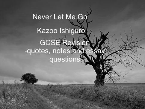 Never Let Me Go-Kazuo Ishiguro GCSE  revision materials
