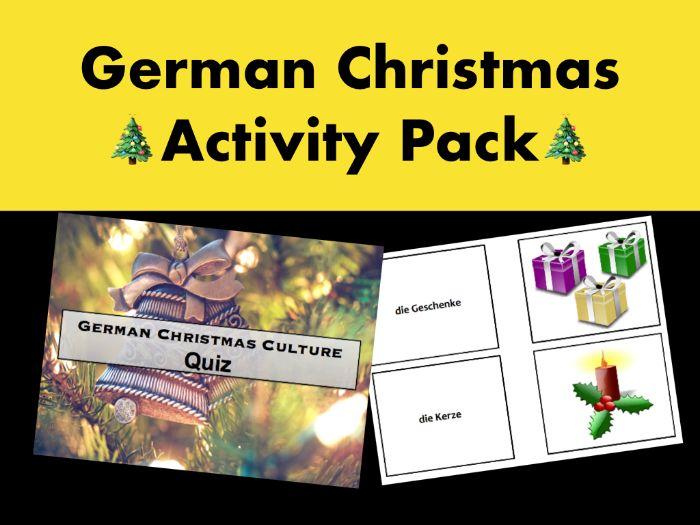 German Christmas Activity Pack