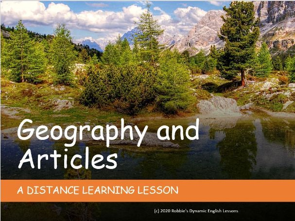 The vs. no article. Distance Learning
