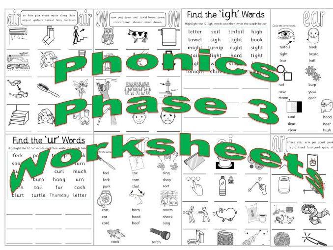 Phase 3 Phonics (Pack 3)