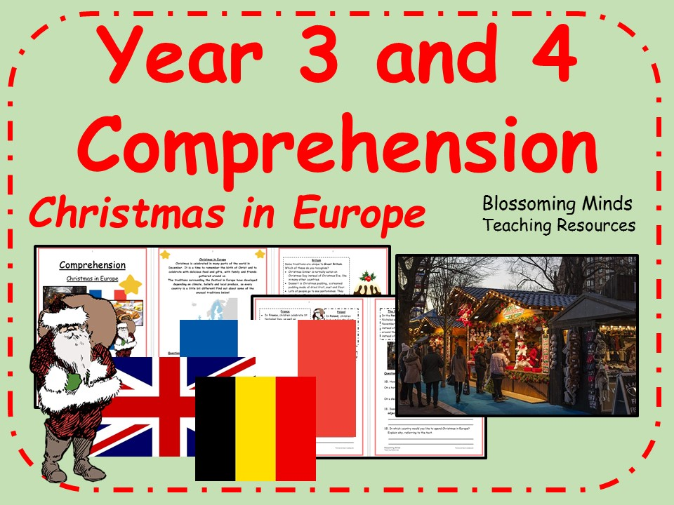 Year 3 and 4 comprehension - Christmas in Europe