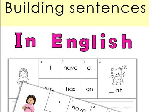 Building Sentences Set I - Verb to have