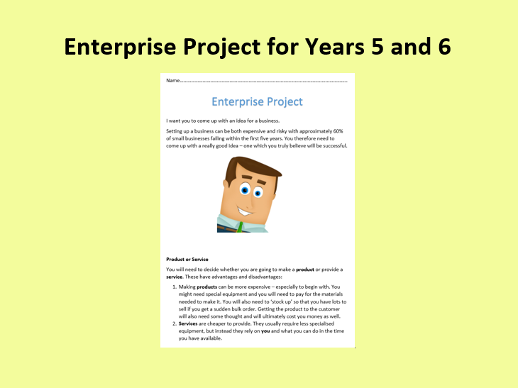 Enterprise Project For Years 5 and 6