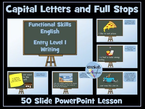 English Functional Skills - Entry Level 1 Writing