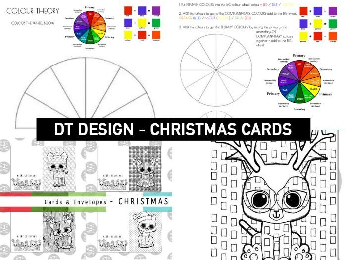 CHRISTMAS COLOUR THEORY | Colouring Cards