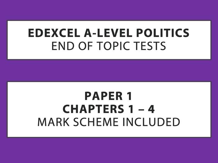 A-Level Politics - End of Topic Tests - Political Participation