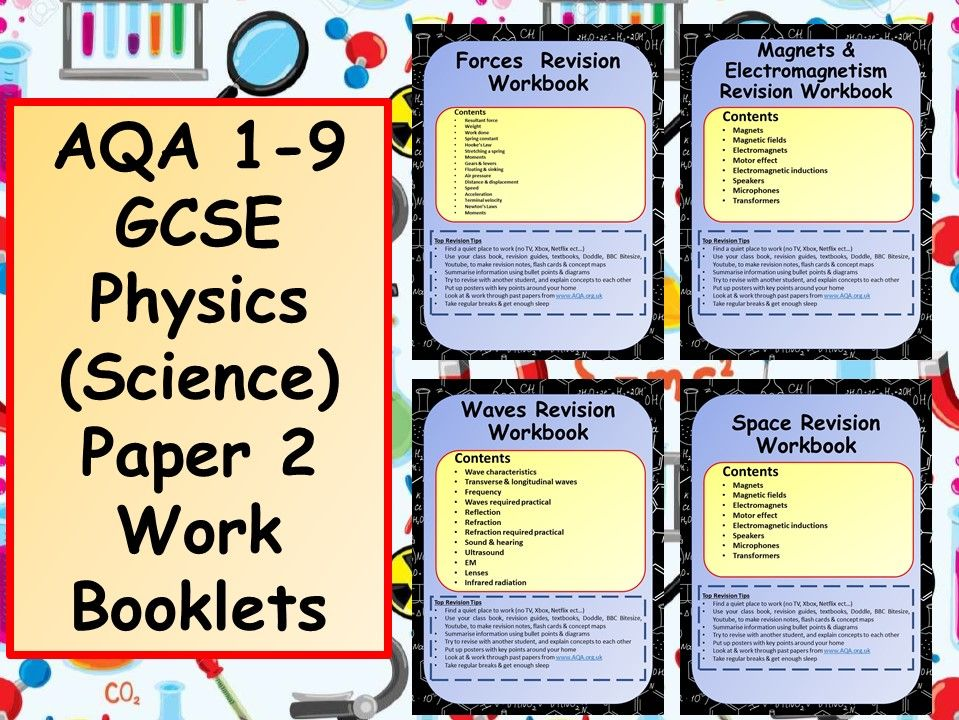 AQA 1-9 GCSE Physics (Science) Paper 2 Work Booklets Bundle