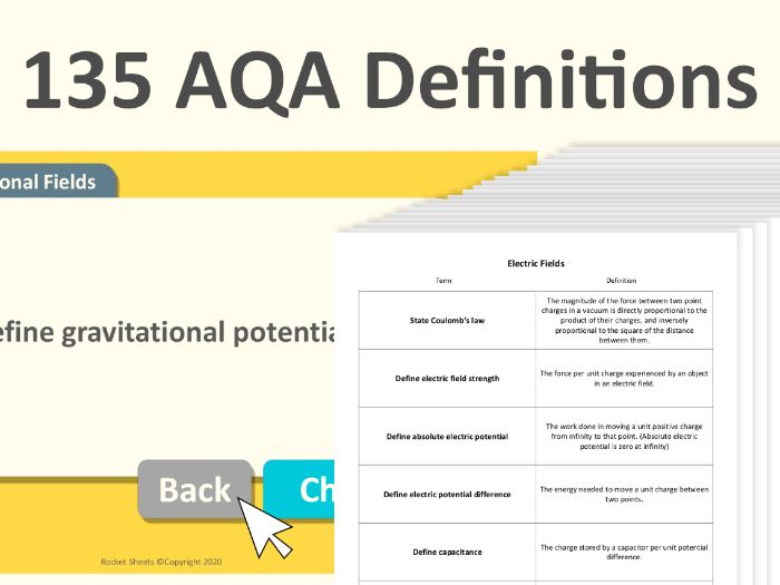 All 135 AQA A level Physics Definitions List + Quiz 2021
