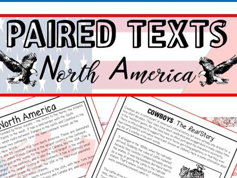 Home Learning: Reading Comprehensions - Text comparisons - NORTH AMERICA