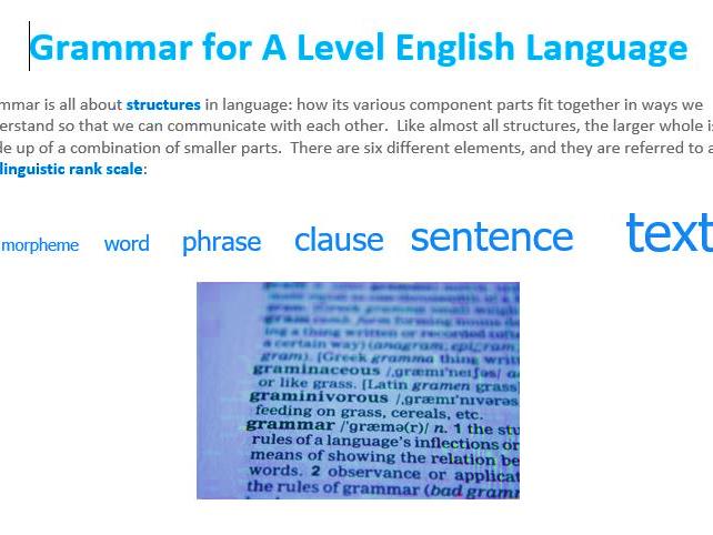 Grammar Guide (A level English Language)