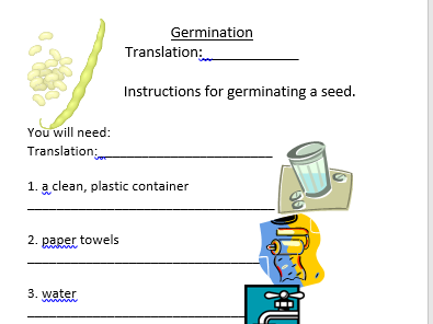 EAL and Germination Booklet