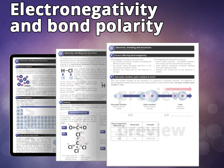 Electronegativity and Bond Polarity - Student notes and activities