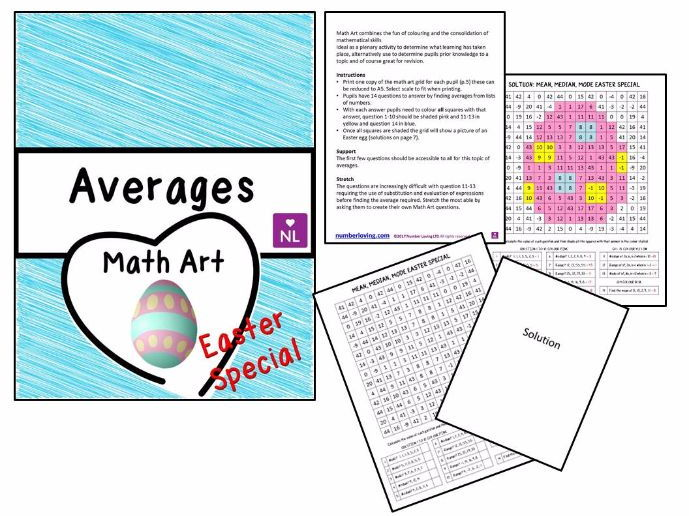 Averages (Math Art- Easter Special)