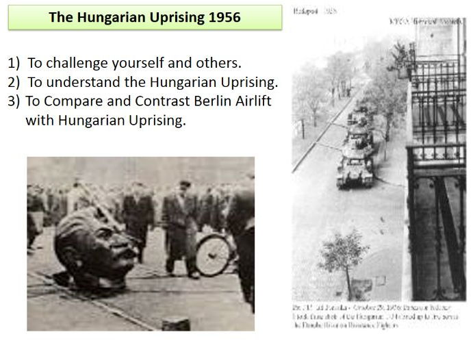 The Hungarian Uprising 1956 - causes and invasion - USED WITH OFSTED - Inc. lots of activity sheets