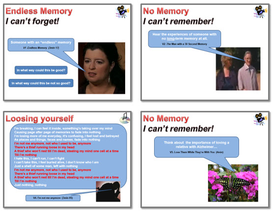 Memory: Memory IS us - the consequences of losing short and long term memory