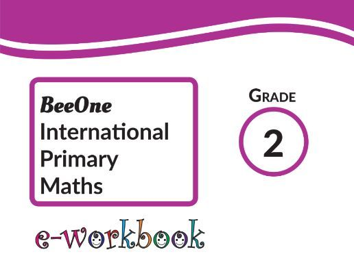 Grade 2 Math workbook of 383 pages from BeeOne Books