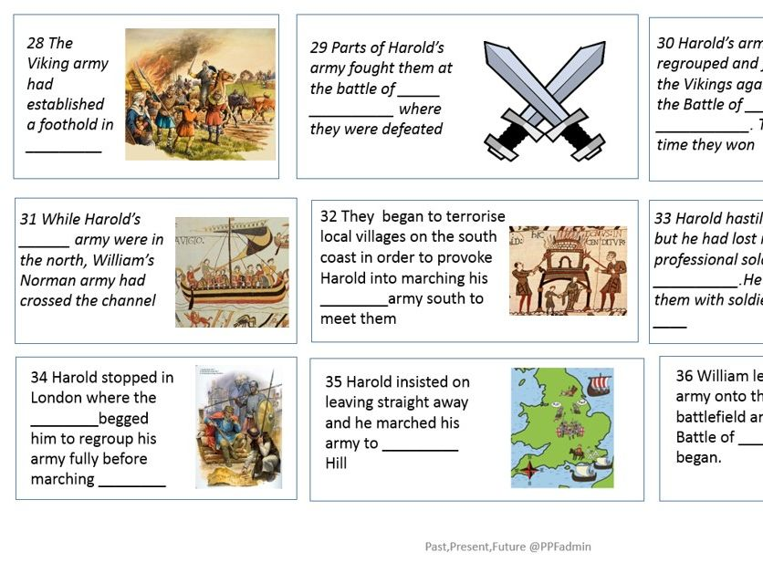 GCSE History Anglo-Saxon and Norman Comic Strip revision