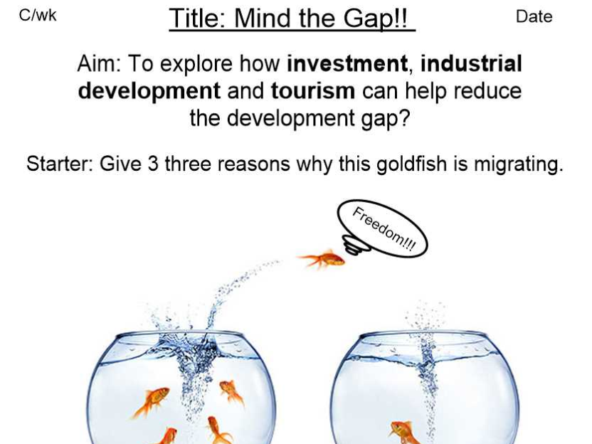 Reducing the Development Gap - Investment, Industrial Development and Tourism