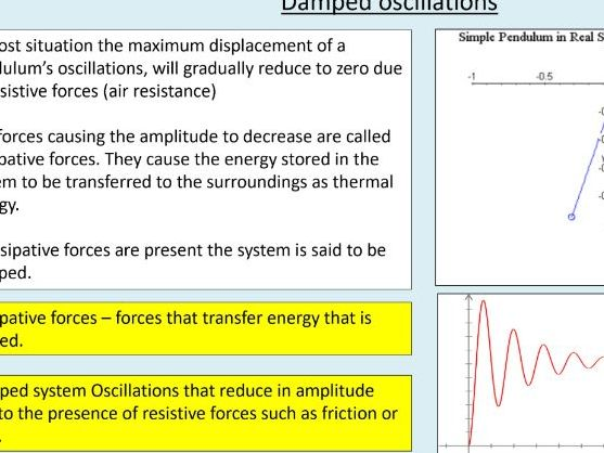 A level Physics (18.5) Energy and SHM (Simple harmonics motion)