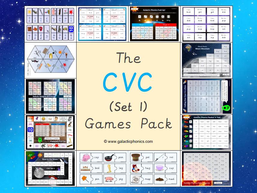 The CVC Phonics Games Pack (Set 1)