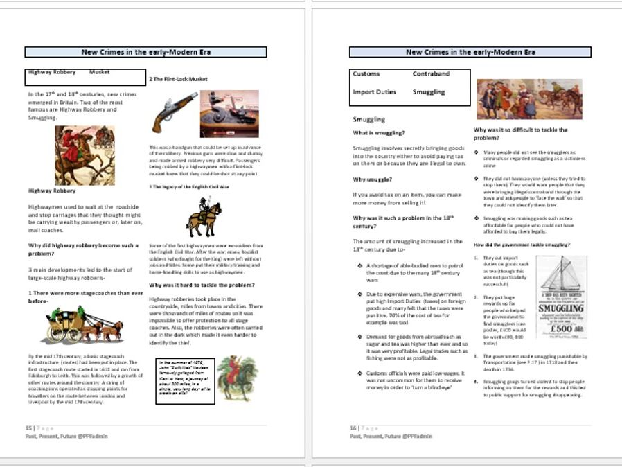 Introductory/revision reading for Edexcel Crime and Punishment Unit
