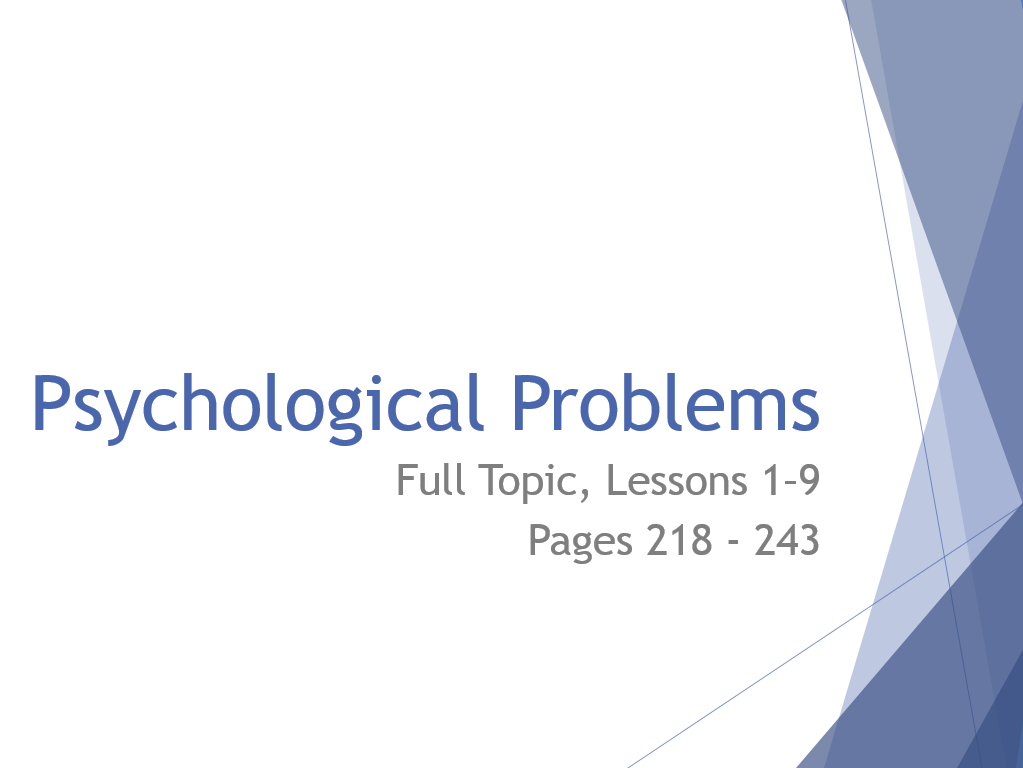 AQA GCSE Psychology - Full Topic - Lessons 1-9 in Psychological Problems