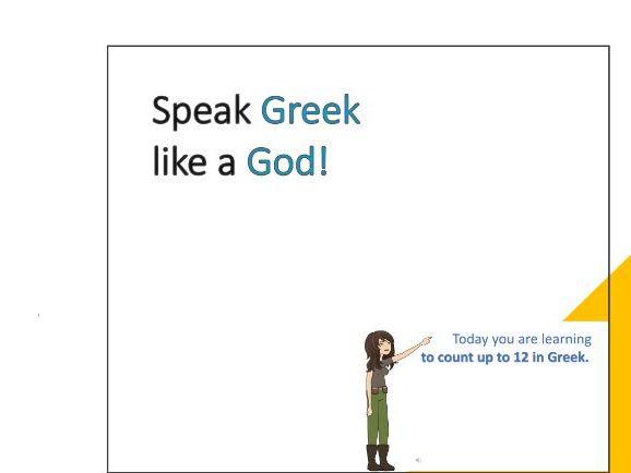 Numbers 1-12 in Greek