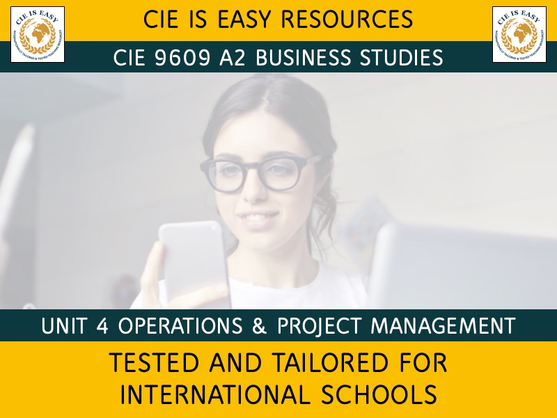 9609 CIE A2 Level Business Unit 4 - Operations