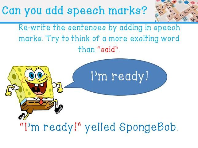How to add speech marks to your writing