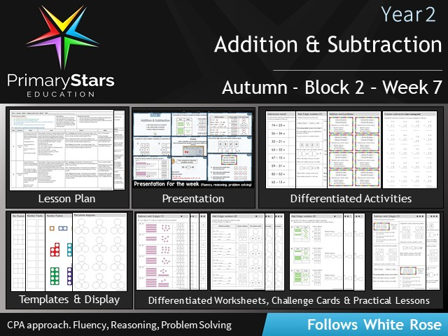 YEAR 2 - Addition Subtraction - White Rose - WEEK 7 - Block 2 - Autumn - Differentiated Resources