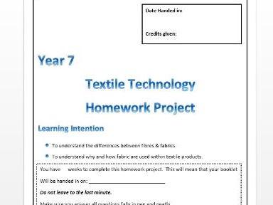Fibres Research Homework booklet