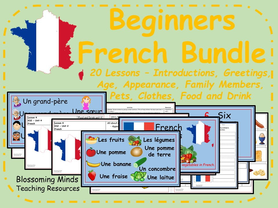 Beginner French 20 lesson bundle - KS2