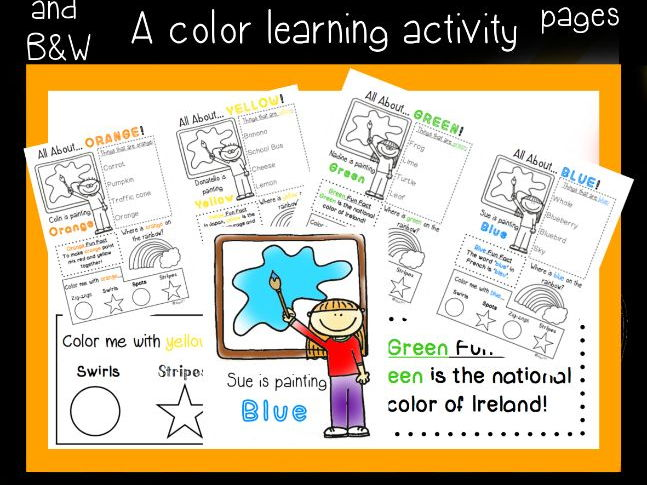 All About Colours Worksheets - full set!