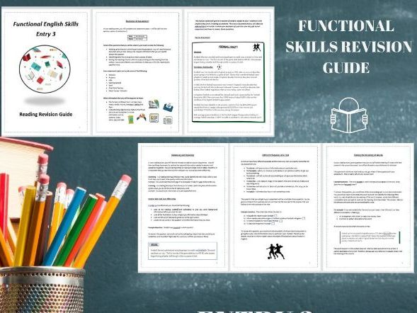 Functional Skills English Revision Guide Entry 3- Reading REFORM