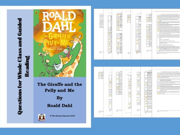 The Giraffe and the Pelly and Me. Differentiated Questions for Whole Class and Guided Reading