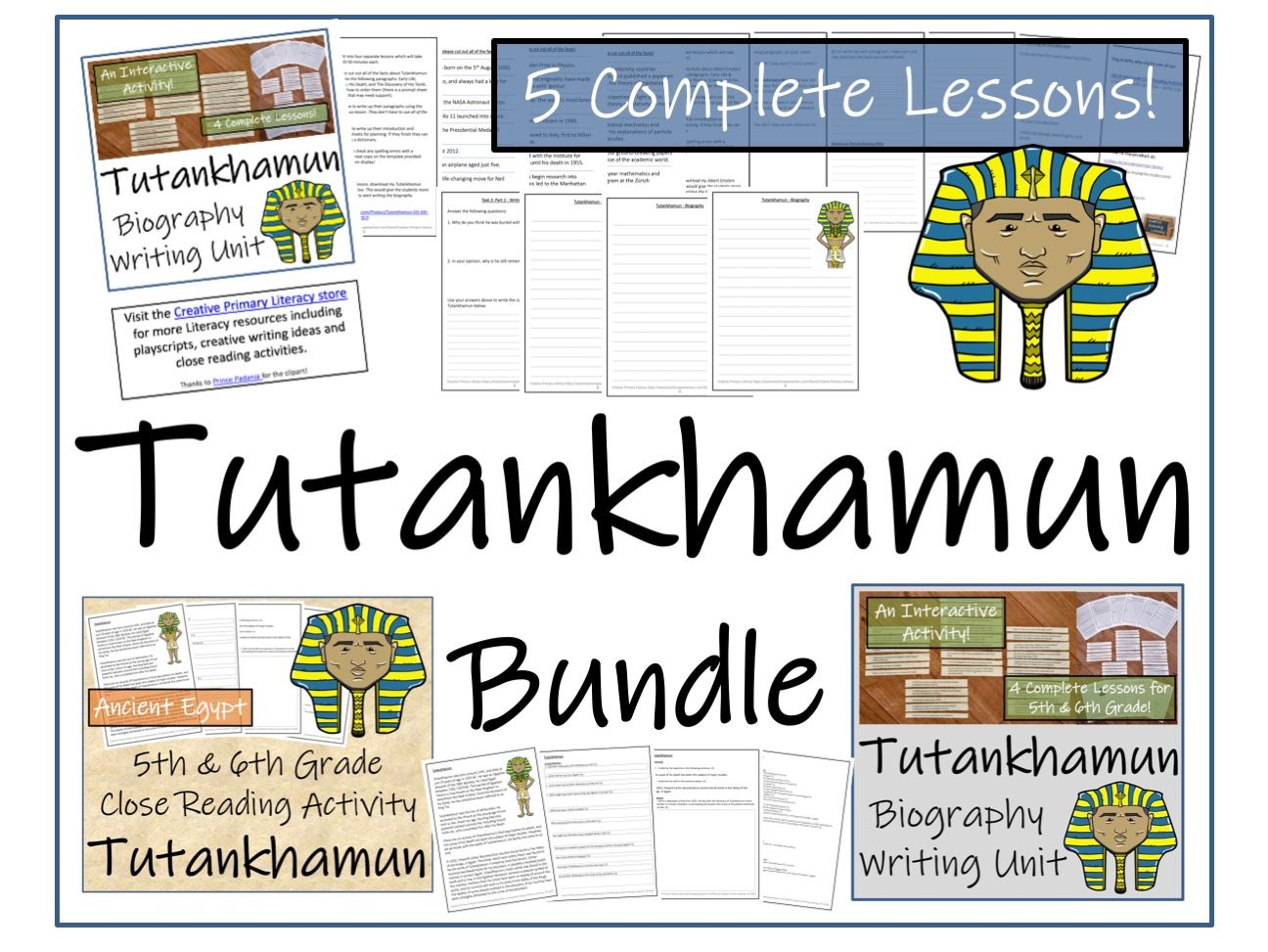 UKS2 History - Bundle of Activities about Tutankhamun