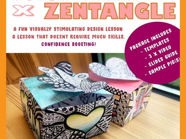 Zentangle Art Lesson [Mother's Day] - Gift Box Making