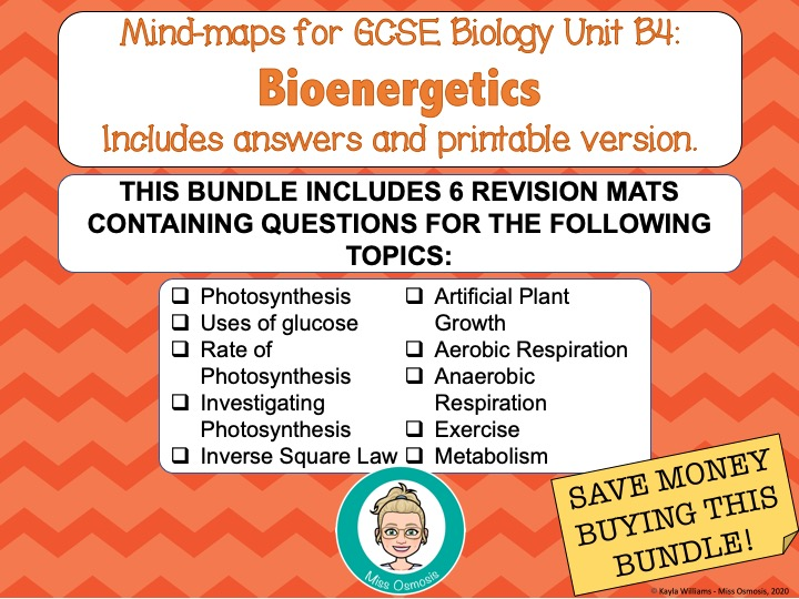 GCSE Biology: B4 Bioenergetics Revision Bundle
