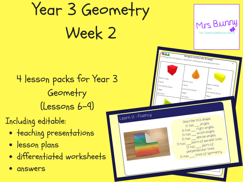 Year 3 Geometry: Properties of Shape Week 2