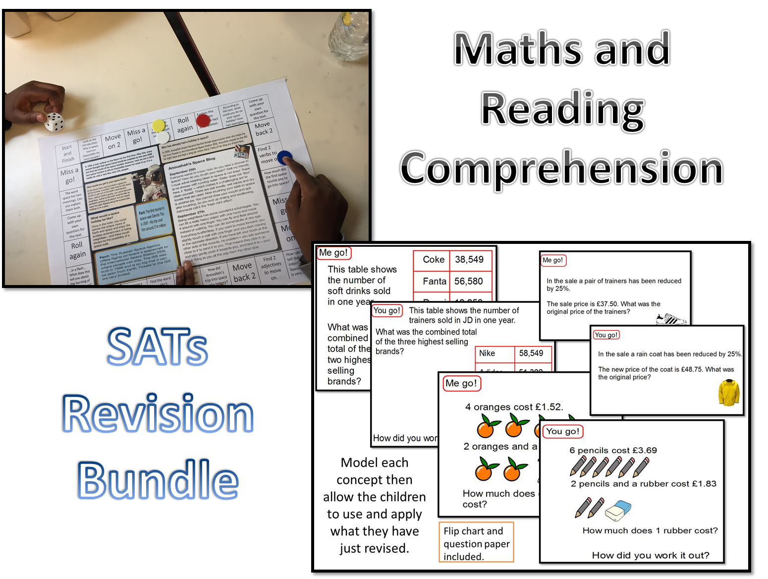 SATs KS2 Year 6 Revision Maths and Reading Comprhension