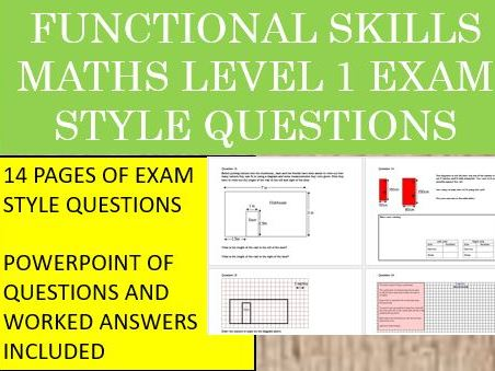 Functional Skills Maths-L1- Revision Questions with Worked Answers
