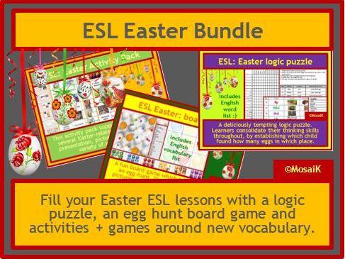 ESL, English Easter resources BUNDLE