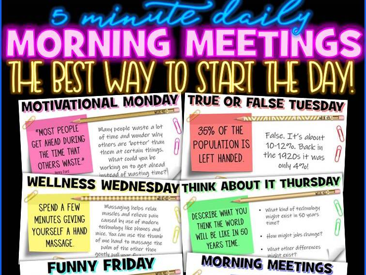 Tutor Time Daily Morning Meeting Messages Digital Activities [1 YEAR]